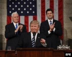 Presidente estadounidense Donald J. Trump se dirige a la Sesión Conjunta del Congreso