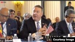 Pompeo dijo que Venezuela debería ser suspendida de la OEA