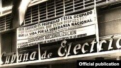 Fachada de la Compañía Cubana de Electricidad confiscada por el Gobierno castrista.