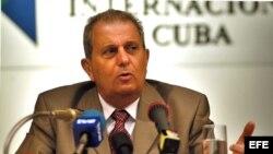 Fotografía de archivo de Pedro Álvarez, expresidente de la Empresa cubana Alimport en el Centro de Prensa Internacional en 2004.