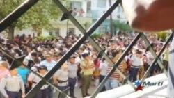 Gobierno cubano utiliza niños para acto de repudio