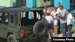 Detienen a Damas de Blanco en Colón, Matanzas Foto Iván Hernández Carrillo