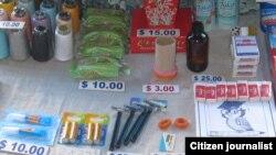 Lo que venden en las calles los cuentapropistas.
