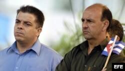 Carlos Lage (d) y Felipe Pérez Roque (i).