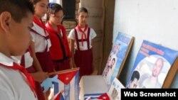 Reporta Cuba. Niños de enseñanza primaria en Cuba.