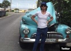Jagger durante su visita a La Habana.