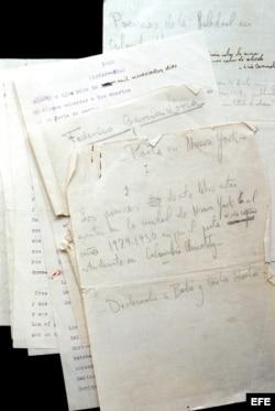 """La versión original manuscrita y a máquina del famoso libro de poemas """"Poeta en Nueva York"""", de Federico García Lorca"""