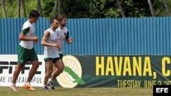 El equipo Cosmos de New York entrena en La Habana.
