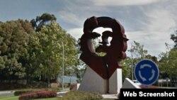 Monumento al Che Guevara en Oleiros, A Coruña.