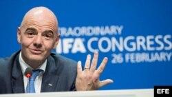 El nuevo presidente de la FIFA, Gianni Infantino.