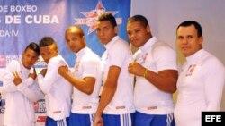 Parte del equipo Los Domadores de Cuba, que compite en el Grupo B de la Serie Mundial de Boxeo (WSB, por sus siglas en inglés).