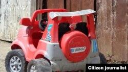 Uno de los carritos por los que había que pagar 5 pesos cubanos.