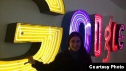 Yoani Sánchez en la sede de Google en Nueva York