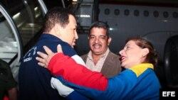 El presidente venezolano momentos antes de partir
