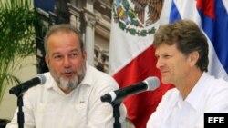 Ministros de Turismo de Cuba y México.