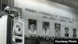 Castro en la Conferencia Trincontinental