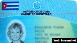Carné de identidad en Cuba