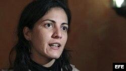 Rosa María Payá, hija del fallecido disidente cubano Oswaldo Payá.