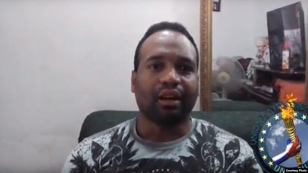 Carlos Alberto Álvarez Rojas, activista de UNPACU, detenido en El Vivac de Calabazar, La Habana.