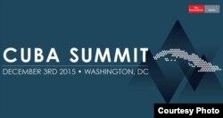 "Logo de la conferencia ""The Cuba Summit: A New Chapter"", organizada por la revista ""The Economist""."