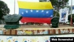 Busto de Chávez decapitado. Táchira