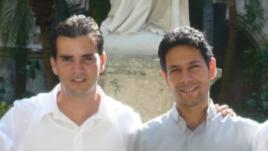 Harold Cepero (der) y Roger Rubio (izq)