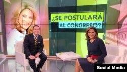 Maria Elvira Salazar, en entrevista con Ambrosio Hernandez, del programa Al Punto Florida, por Univision Miami.