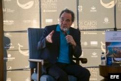 William Oliver Stone, habla durante un evento de la 5ta Edición del Festival Internacional de Cine de Los Cabos /noviembre de 2016/ Baja California