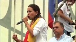 María Corina Machado intenta sin éxito entrar en la Asamblea Nacional