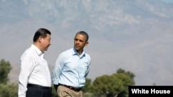 Obama y Xi Jinping en California