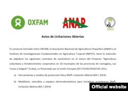 Licitación de Oxfam Intermom.