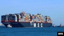 MSC Oscar, el portacontenedores más grande del mundo.