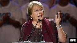 Cierre de campaña de Michelle Bachelet en Santiago de Chile