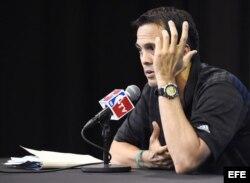 Erik Spoelstra, entrenador del Miami Heat.