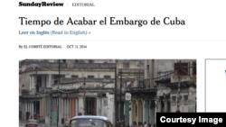 Editorial del diario The New York Times