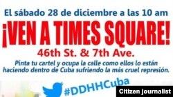 Manifestación en Nueva York contra el uso de niños en actos de repudio