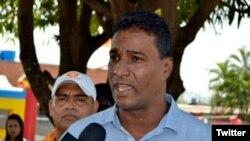 Delson Guarate se postuló para las elecciones de alcaldes del 10 de diciembre por el municipio Mario Briceño Iragorry, pero perdió.