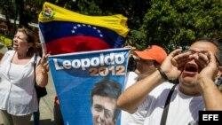 Opositores aguardan sentencia contra Leopoldo López