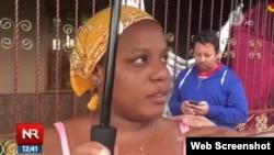 Marisleidy Castro, migrante cubana. (Captura de imagen/Repretel.com)