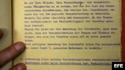 """Imagen del archivo """"Matz Loewe"""" descubierto en una dependencia de los archivos de la Stasi -la policía secreta de la RDA."""