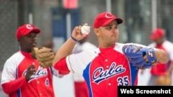 Peloteros cubanos. Foto archivo.