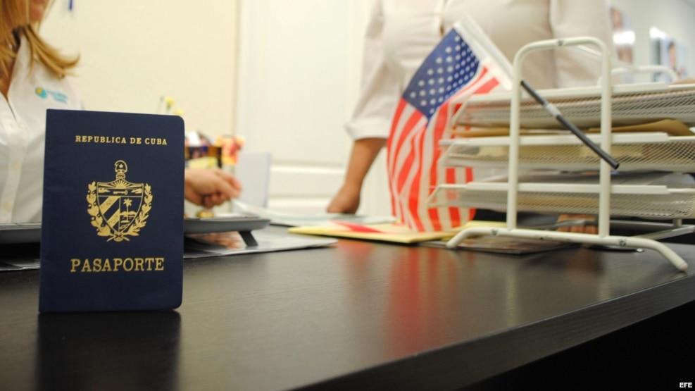 Pasaporte cubano.
