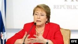 La presidenta de Chile, Michelle Bachelet. Archivo.