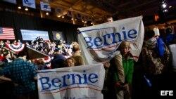 Seguidores de Bernie Sanders, precandidato presidencial por el partido Demócrata.