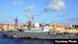 La nave rusa espía SSV-175 Victor Leonov