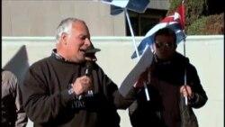 Manifestación frente a embajada cubana en España