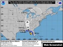 Tormenta subtropical Alberto. (NHC)