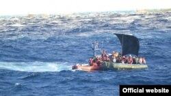 Balseros cubanos interceptados por la Guardia Costera de EE.UU