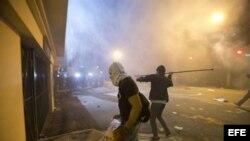 Manifestantes en Brasil.