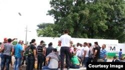 Cubanos en Tapachula. Foto: Cortesía, Agencia Quadratín.